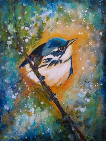 Cerulean Warbler (Sold) Art | Sacred Star Arts