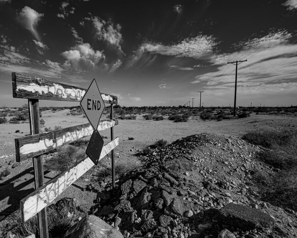 The End in Black and White - Art Print - Tamea Photography