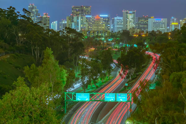 San Diego Skyline from Balboa Park by McClean Photography