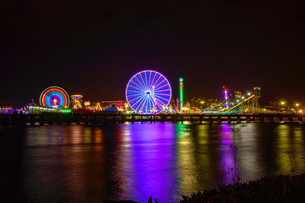 Del Mar Fair At Night Two Fine Art Print Art | McClean Photography