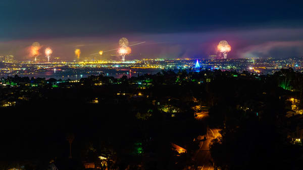 Mount Soledad Fourth Of July 2 Art | McClean Photography