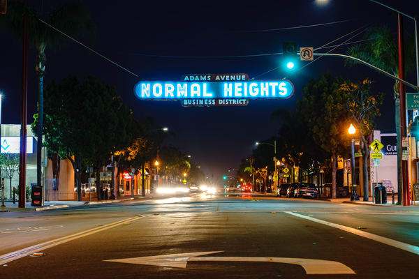 Normal Heights, San Diego Sign Wall Art Print by McClean Photography