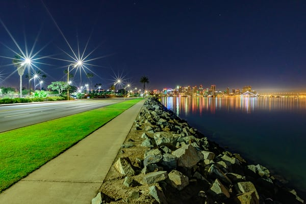 City View from Harbor Island, San Diego by McClean Photography