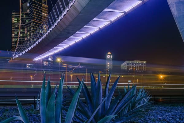 Downtown San Diego Train Passing Wall Art Print by McClean Photography