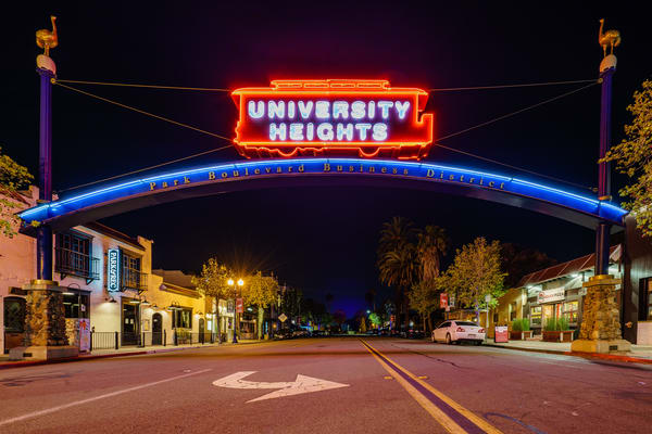 University Heights San Diego Sign Taken On 3 28 2020 Art | McClean Photography