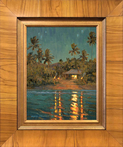 Beach Shack Tikis ~ In Stock Framed Art   Daryl Millard Gallery LLC
