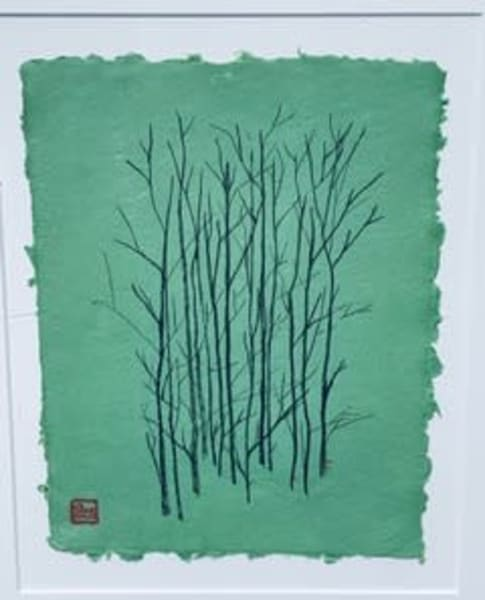 Black Trees On Green  Art | donnadacuti