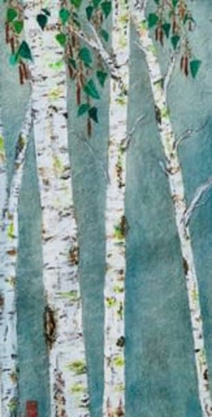 White Woods On Grey Art | donnadacuti