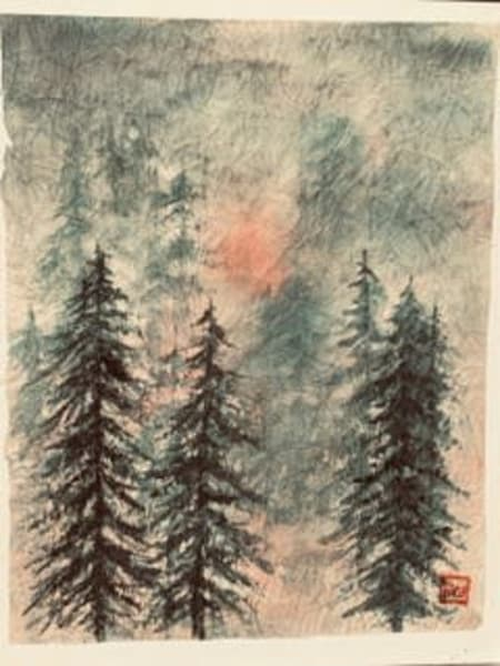 A Night In The Forest  Art | donnadacuti