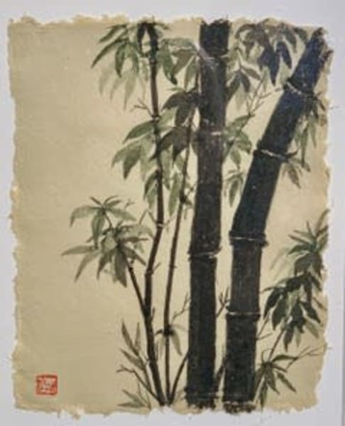 Black Bamboo On Paper Art | donnadacuti