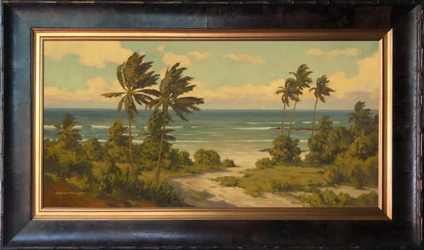 Summer Breeze Framed In Stock Burl Wood