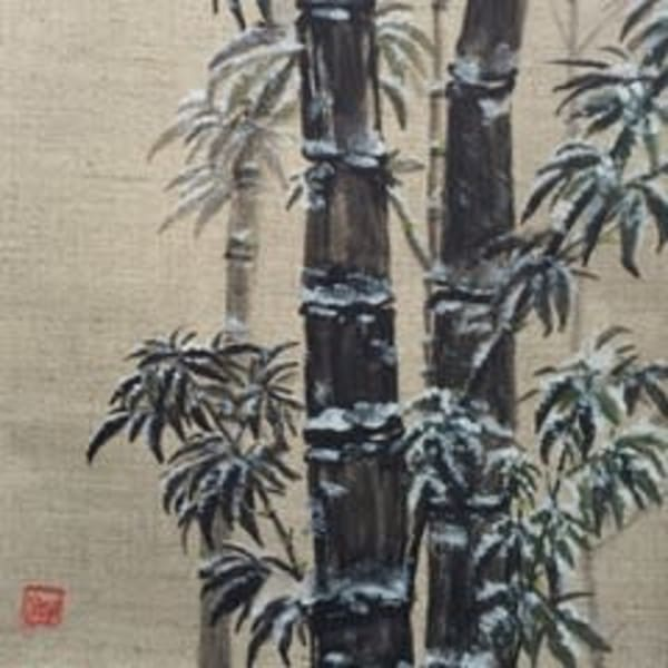 Black Bamboo In Winter Art | donnadacuti