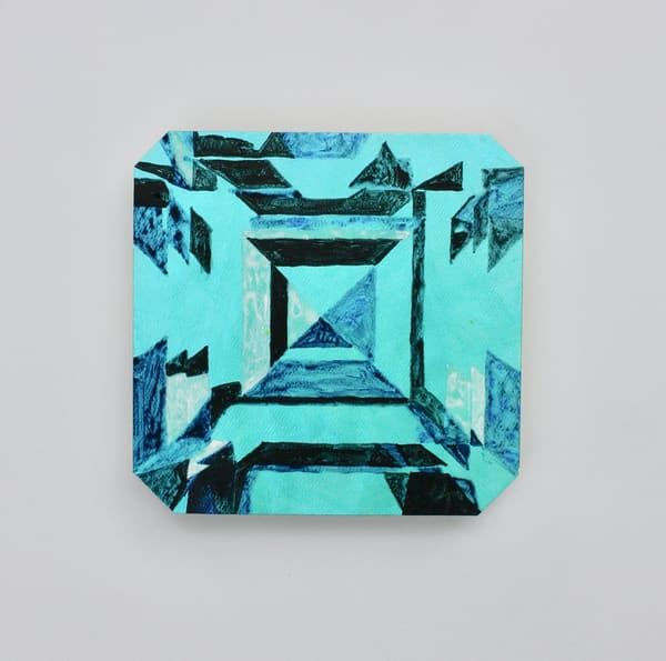 'Kojin' Asscher Cut Emerald  Art | Cool Art House - online art gallery with hip emerging artists. Collect cool art you can view on your own wall before you invest!
