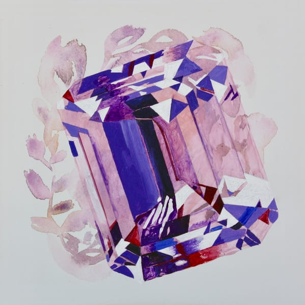 'Oya' Step Cut Amethyst Art | Cool Art House - online art gallery with hip emerging artists. Collect cool art you can view on your own wall before you invest!