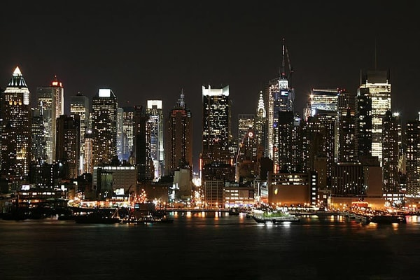 Lights of NYC - New York Skyline Wall Mural