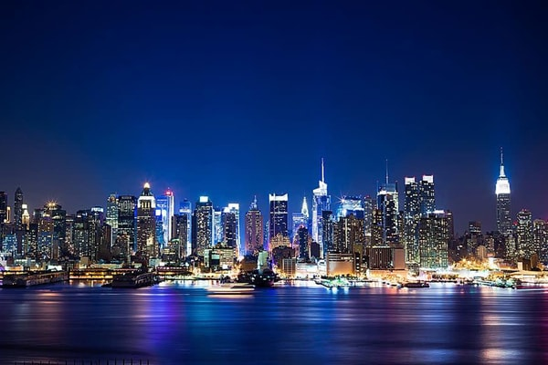 Blue Manhattan - NYC Skyline Wall Mural