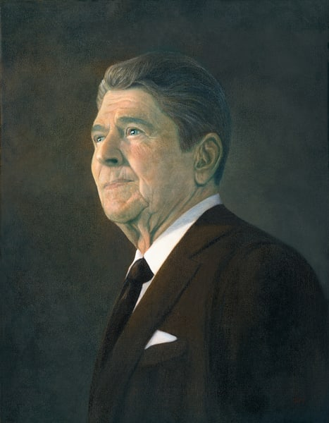 Ronald Reagan Portait Art | Tarryl Fine Art