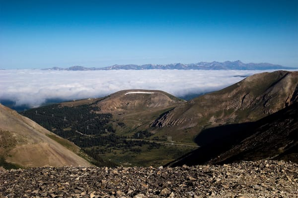 Above The Clouds At Quandary Peak @ 14,265 Ft Photography Art | Creighton Images
