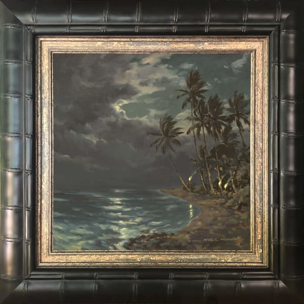 Silver Lining Framed In Stock Black Bamboo