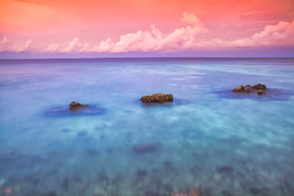 Blue and Pink Tropics | Beach and Ocean Photography Print