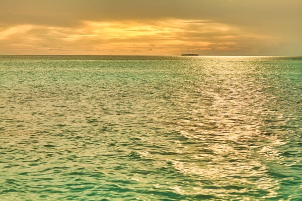 Maldives Golden Waters | Beach and Ocean Photography Print