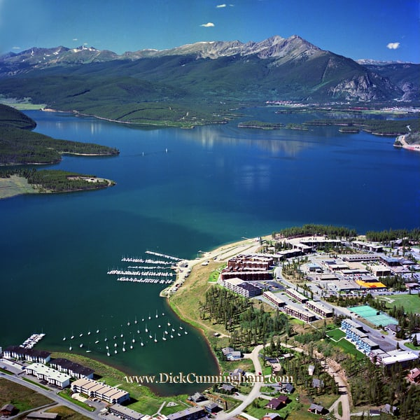 Town Of Dillon And Lake Dillon 1985 Art | Cunningham Gallery
