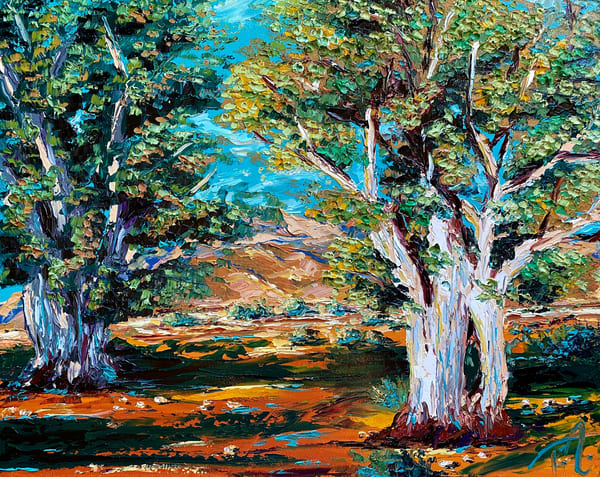 Eucalyptus Study   Original Oil Painting Art   Tessa Nicole Art
