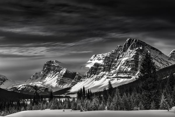 Crowfoot Pass, Glacier, and Mountain in Banff National Park. Canadian Rockies|Rocky Mountains|
