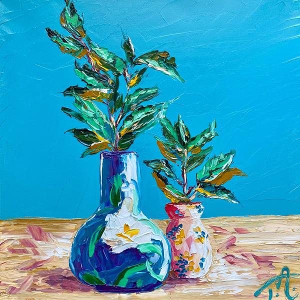 Modern Still Life   Original Oil Painting Art   Tessa Nicole Art