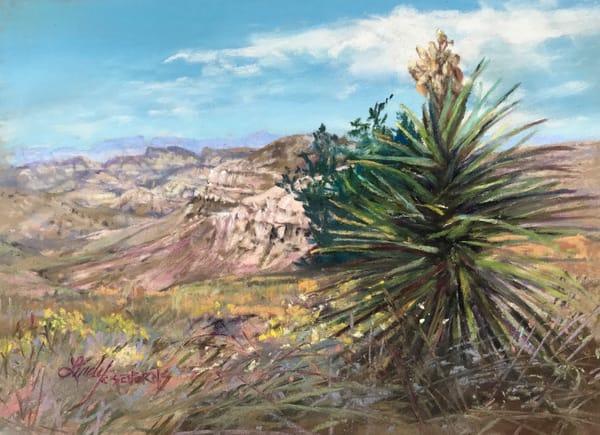 Lindy Cook Severns Art   Desert Canyon Color, original pastel