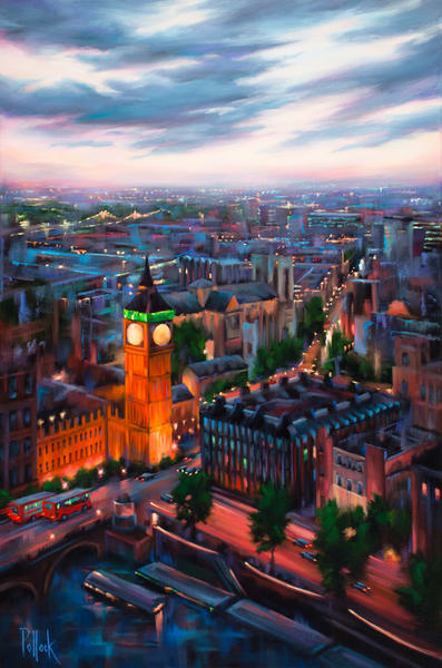 London Twilight fine art print | Sarah Pollock Studio