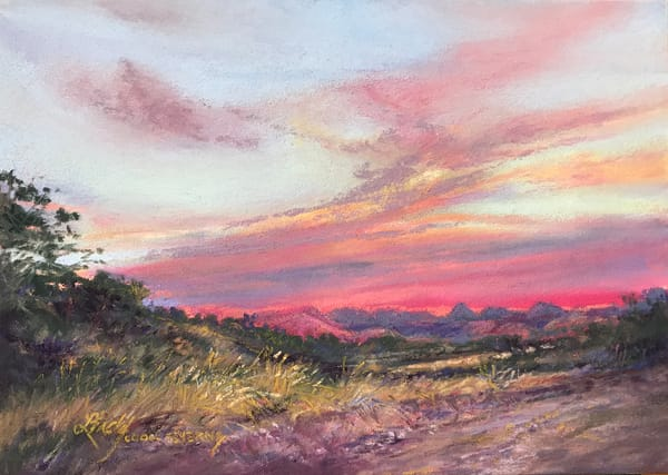 Lindy Cook Severns Art | Mitre Peak at Dawn, original pastel