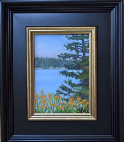 Owls Head Tiger Lillies   Original Framed Oil Art | Sharon Guy
