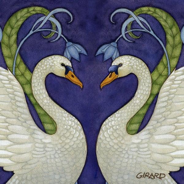 Swan Love Art | Studio Girard