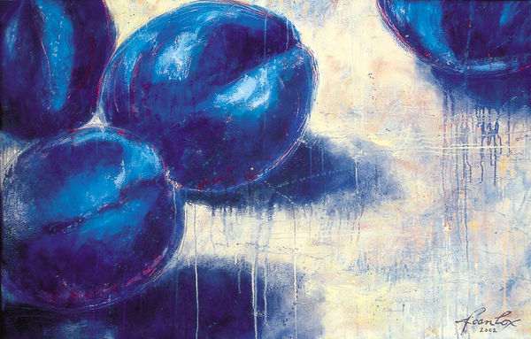 Blue Plums 2 Art | Joan Cox Art