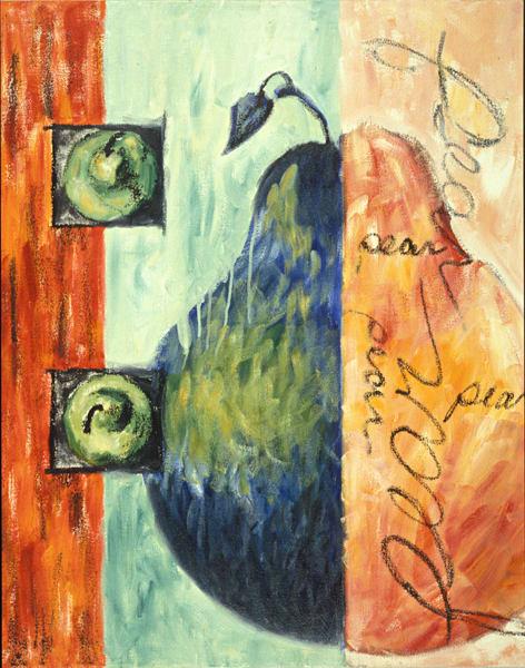 Pears Cursive Art | Joan Cox Art