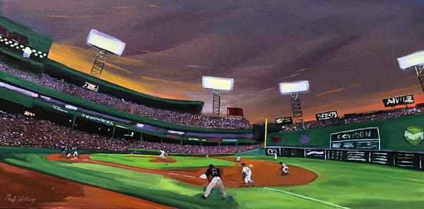 Evening at Fenway by Paul William Artist | Original Artwork for Sale
