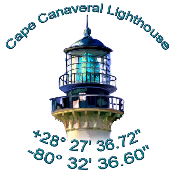 Cape Canaveral Lighthouse2 Coasters Art | DARDISartgalleries