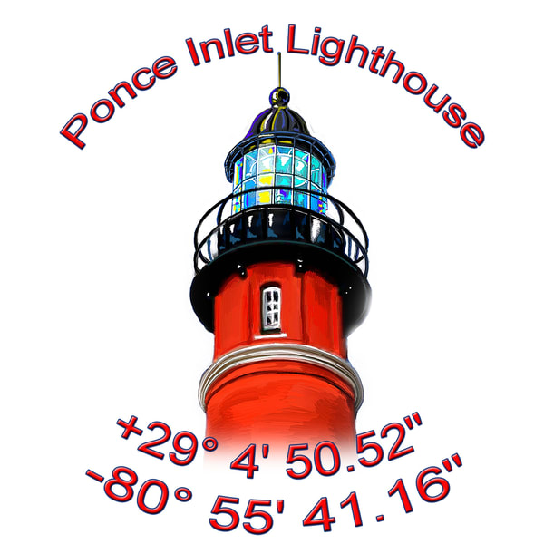 Ponce Inlet Lighthouse Coasters Art | DARDISartgalleries