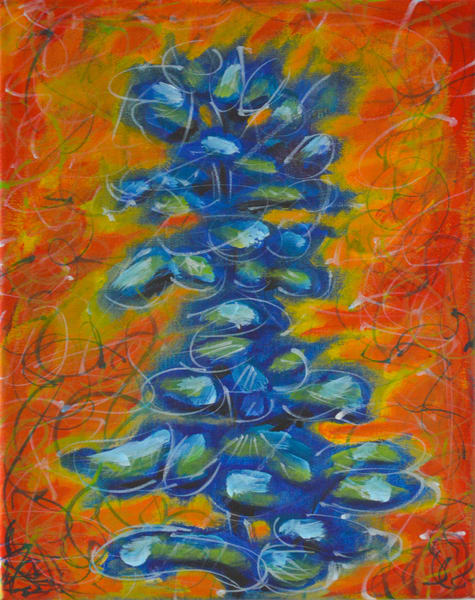 Spirit Tree In Blue And Orange Art | studio176
