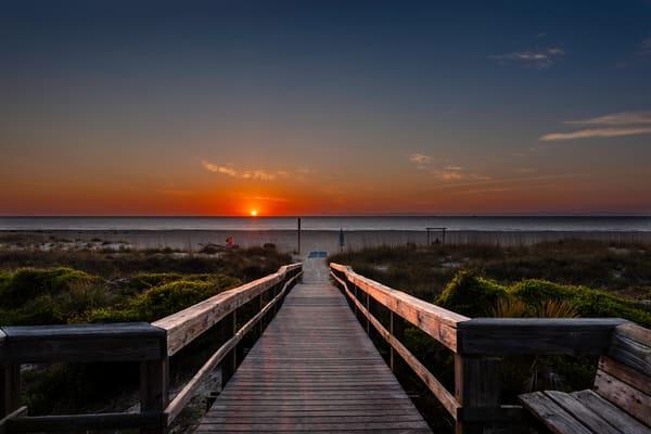 Tybee Boardwalk Sunrise