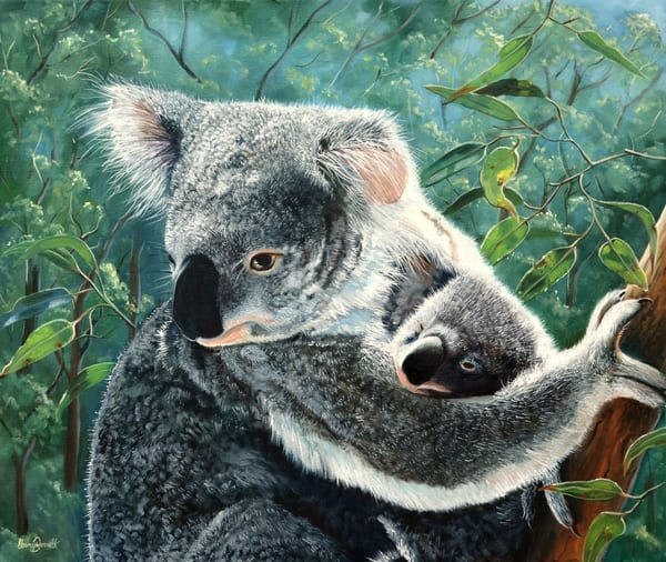 Koala and Baby - A MotherŐs Love