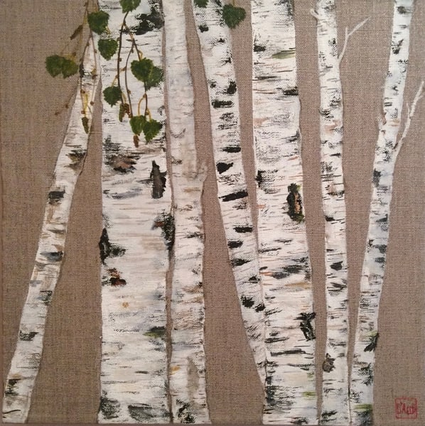 Birch On Linen ||  Art | donnadacuti