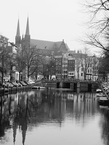 Amsterdam With The Kritjberg Church Photography Art | Photoissimo - Fine Art Photography