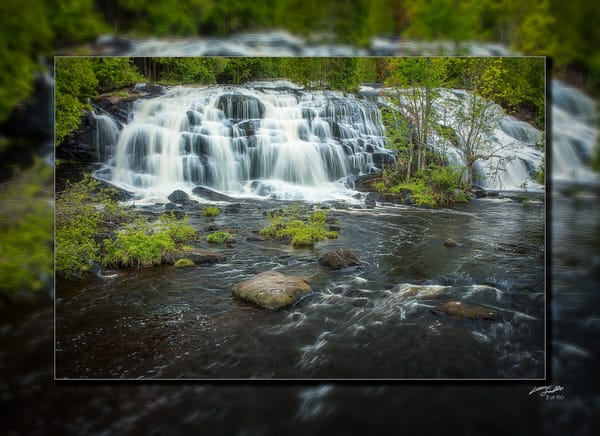 Bond Falls Pano 3 D Photography Art | Whispering Impressions