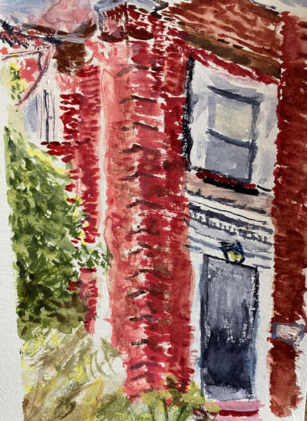 Front Entrance, Red Brick Art | Howard Lawrence Fine Art