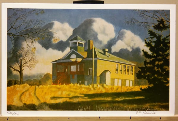 'old School House At Trail Mn.  Art | John Simonis Art Gallery