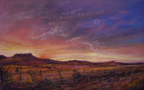 Lindy Cook Severns Art | Light of a Distant Fire, enhanced print