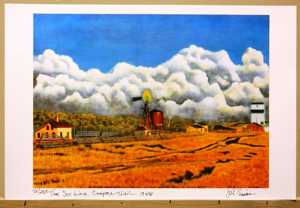 Old Soo Line Rr Complex At Trail, Mn. Circa 1948 Art | John Simonis Art Gallery