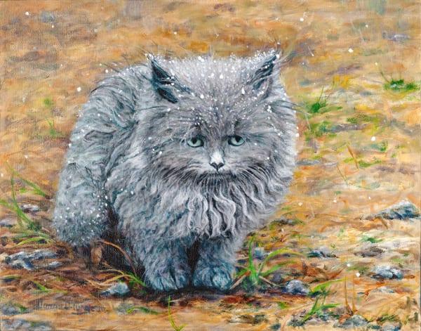 Kitten's First Snow  Art | artalacarte